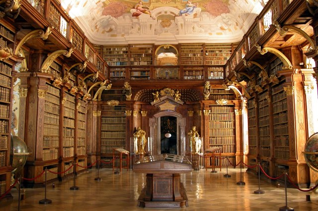 De bibliotheek van de abdij van Melk