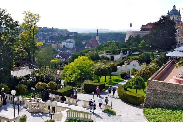 De tuinen van de abdij van Melk