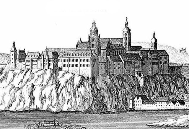 De abdij aan het einde van de 17e eeuw