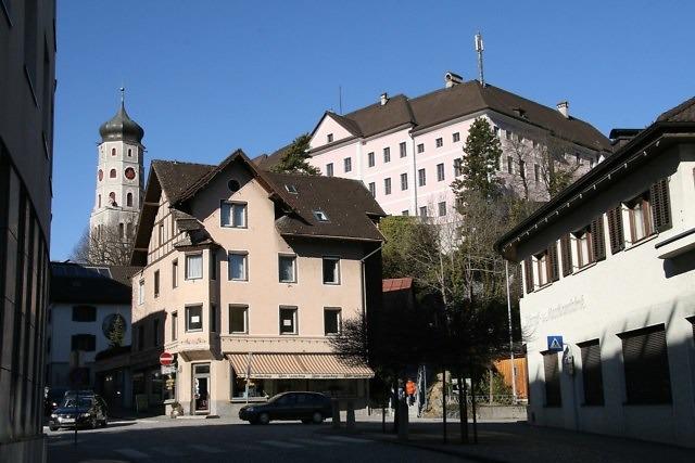 Het historische centrum van Bludenz