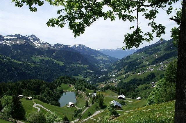 Het Großes Walsertal ten noorden van Bludenz