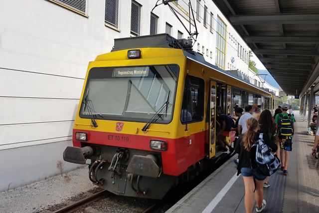 Het treinstation van Bludenz