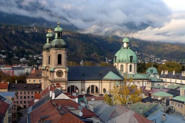 De prachtige Dom van Innsbruck