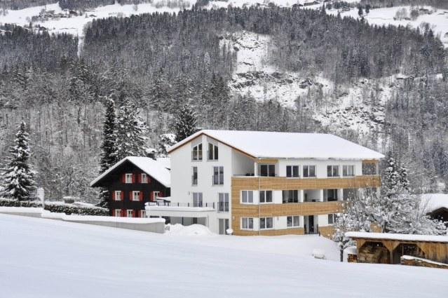 Drei Türme bedolven onder een flink pak sneeuw