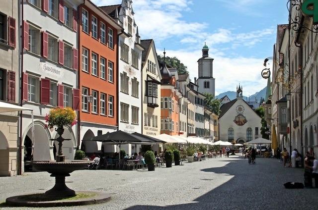 Het historische centrum van Feldkirch