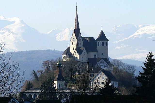 De Liebfrauenbergkirche in Rankweil