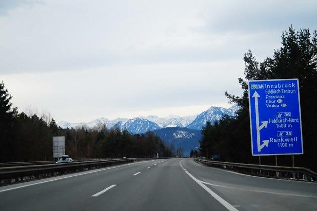 De A14 in de buurt van Feldkirch