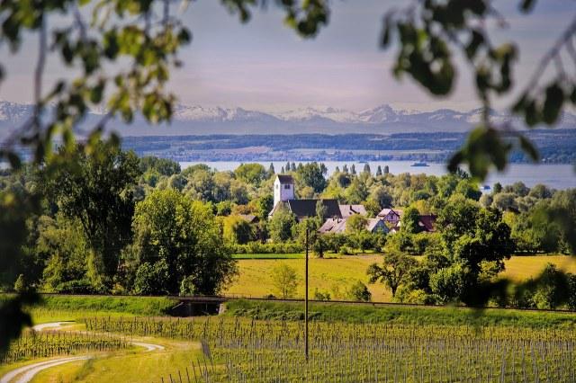 Landschap rond de Bodensee