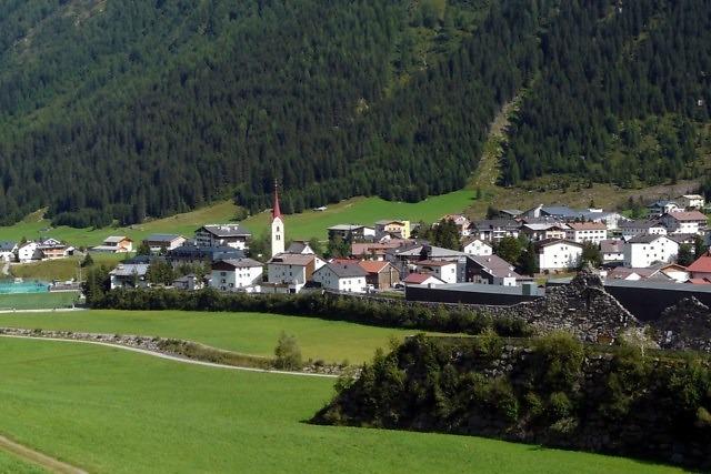 Het Tiroolse dorp Galtür i