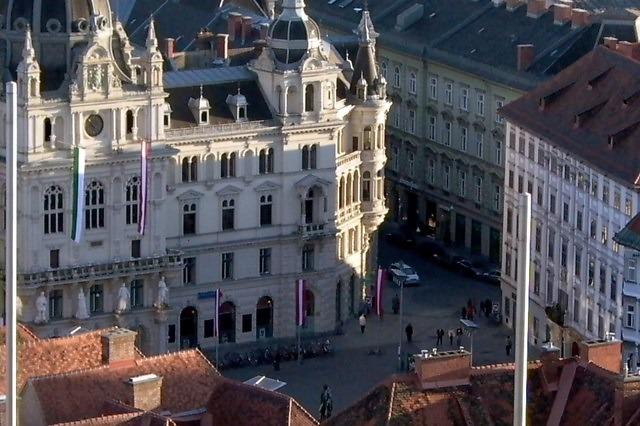 Het Rathaus van Graz