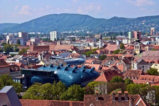 Het merkwaardige Kunsthaus Graz