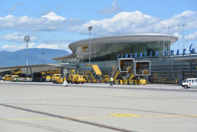 De luchthaven van Graz