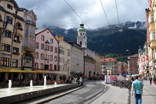 Het historische centrum van Innsbruck