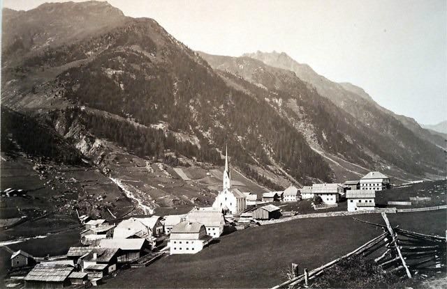 Het dorp aan het einde van de 19e eeuw