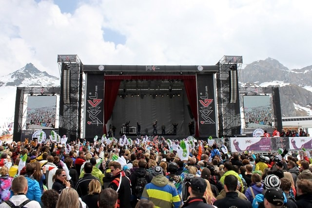 Top of the Mountain-concert in Ischgl