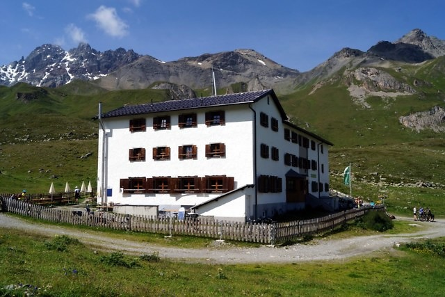 De Heidelberger Hütte niet ver van Ischgl