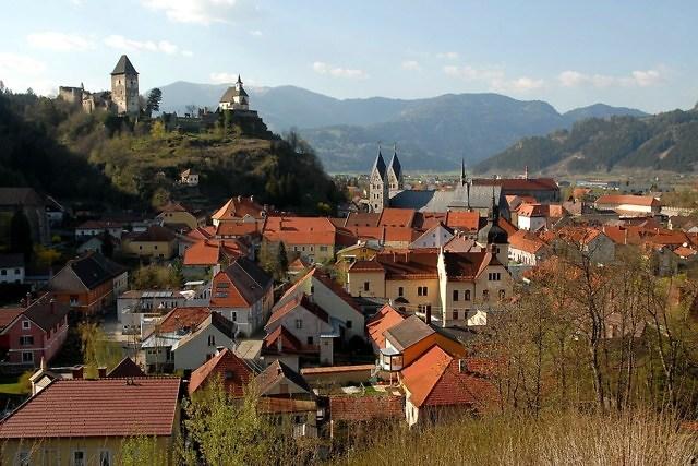 het middeleeuwse Friesach in Karinthië