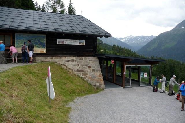 Het bergstation van de Kristbergbahn