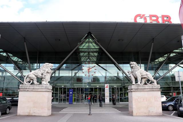 Het treinstation van Linz