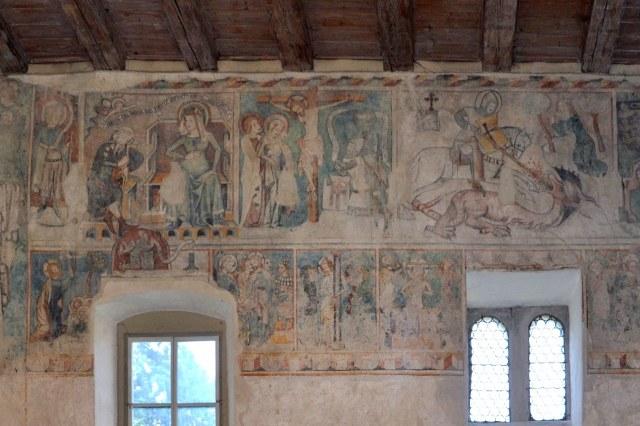 Fresco's in de Martinskapelle