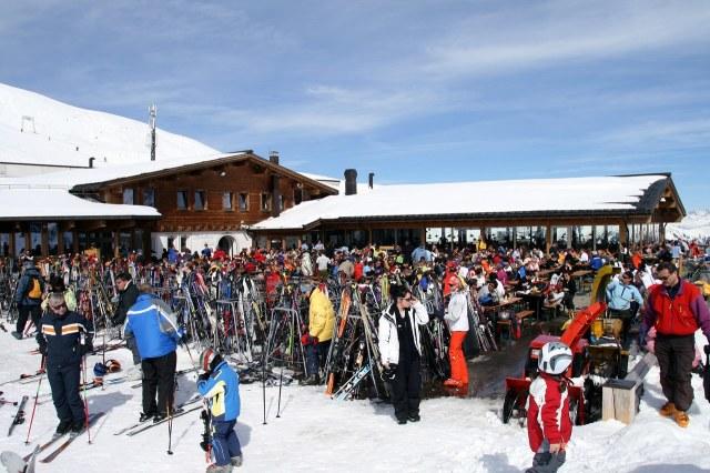 Bergstation Schafberg in de winter