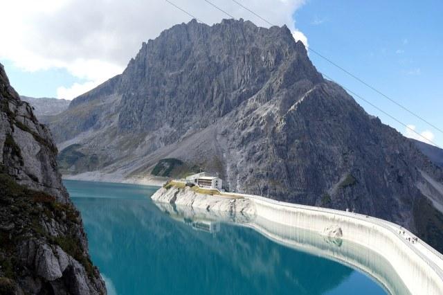 De Lünersee, een van de stuwmeren van de Vorarlberger Illwerke