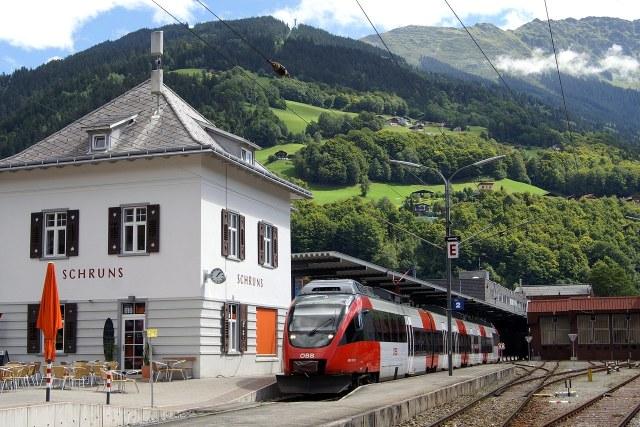 Het treinstation van Schruns