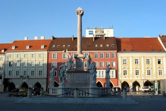 Het centrum van Wiener Neustadt