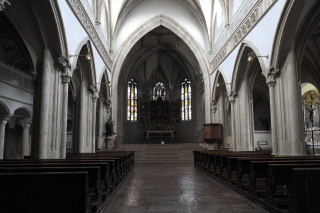 Het interieur van de kloosterkerk