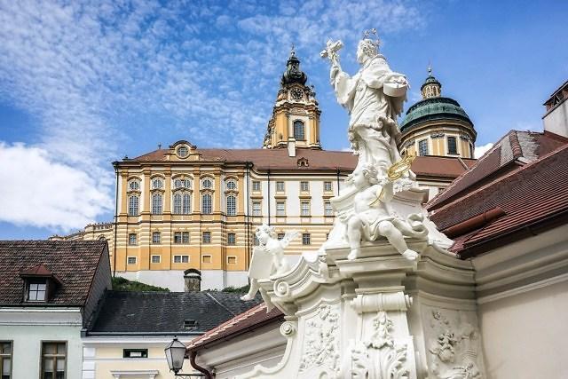 Het beroemde klooster van Melk in Neder-Oostenrijk