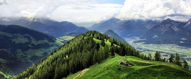 Een typisch Oostenrijks landschap