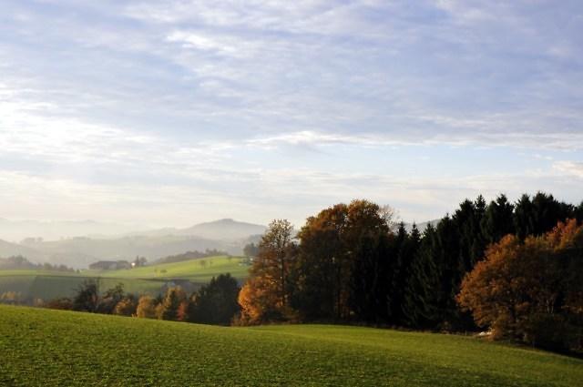 Typisch landschap in Opper-Oostenrijk