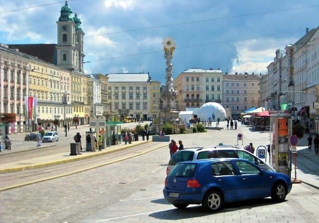 De binnenstad van Linz