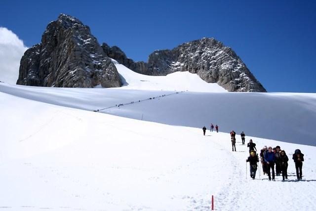Wintersport bij de Dachstein
