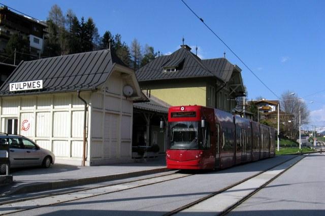 De Stubaitalbahn in Fulpmes