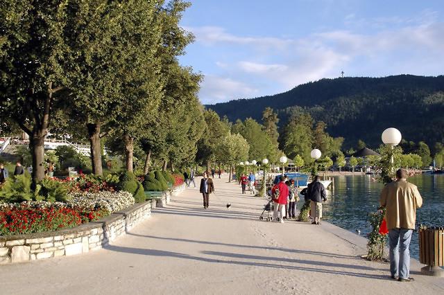 De promenade van Pörtschach