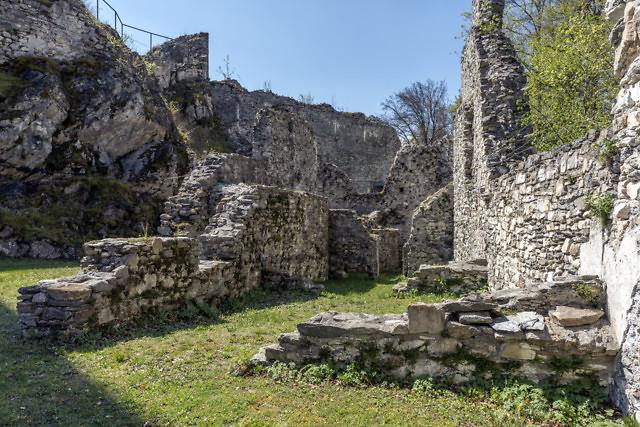 De ruïne Burg Leonstein