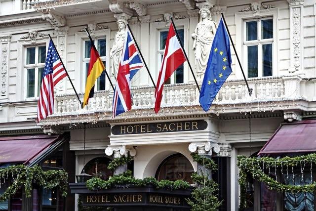 Het beroemde Sacher Hotel in Wenen
