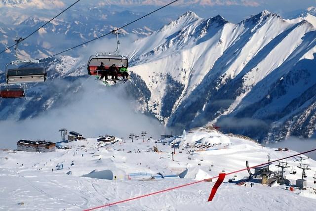 Wintersport op de Kitzsteinhorn