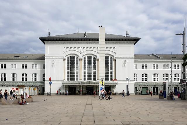 Het treinstation van Salzburg