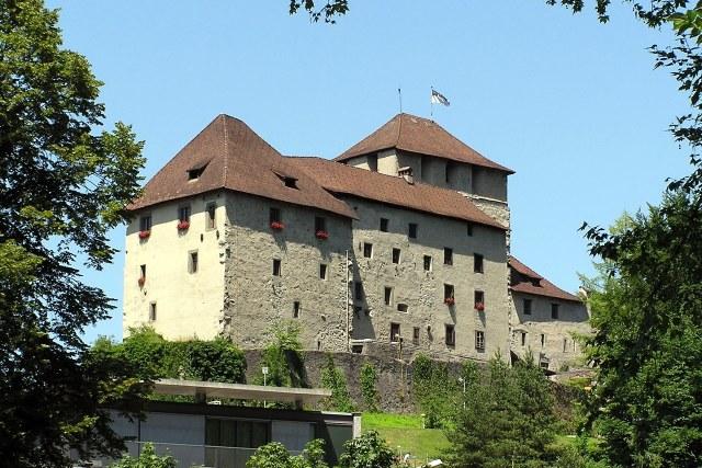 De Schattenburg gezien vanuit Feldkirch