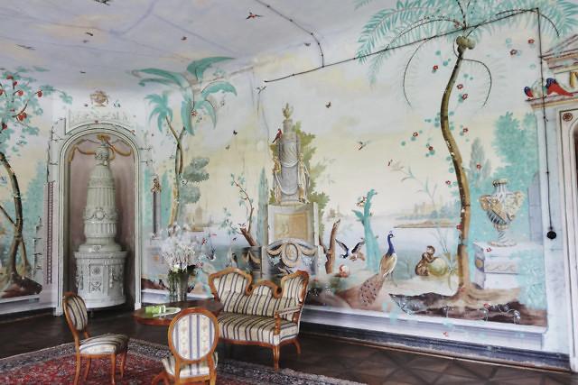 De barokke eetzaal van het paleis