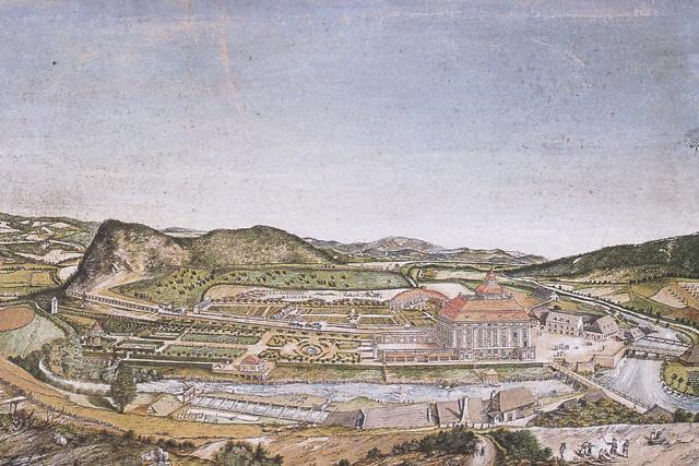 Schloss Pöckstein in 1783, vlak nadat het voltooid werd.