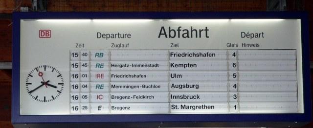 Zoals je ziet genoeg treinen van Lindau naar Bregenz