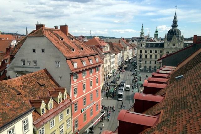 Het middeleeuwse centrum van Graz