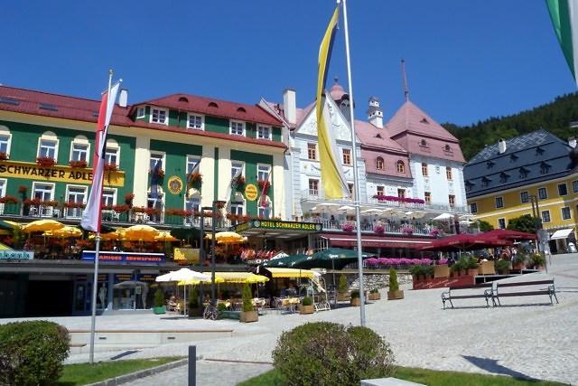 Een groot hotel bij Mariazell