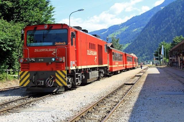 Trein in het Zillertal