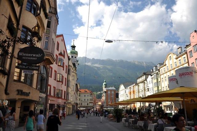 De binnenstad van Innsbruck