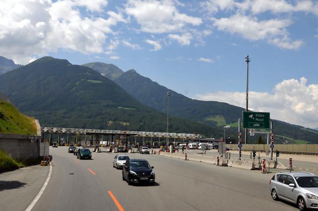 Tolpoorten op de Oostenrijkse Autobahn