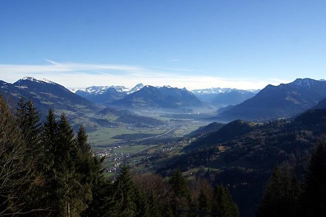 De Walgau tussen Bludenz en Feldkirch